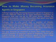 How to Make Money Becoming Insurance Agents in