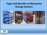 Types and Benefits of Mezzanine Storage Systems
