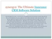 synergy2 - The Ultimate Insurance and Reinsurance CRM Software Solutio