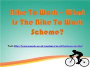 Bike To Work – What Is The Bike To Work Scheme?