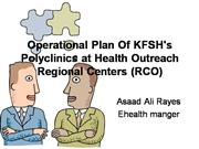 Operational Polyclinic Plan