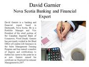 David Garnier - Nova Scotia Banking and Financial Expert