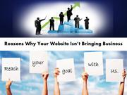 Reasons Why Your Website Isn't Bringing Business