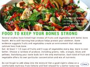 Food to keep your bones strong 2