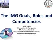 Goals, Roles and Competencies_Medical Education