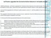 isoTracker upgrades the Corrective Action features