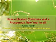 Christmas  Greetings  from  Kuroda  Family