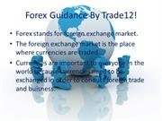 Get Full Knowledge About Forex guide by trade12