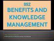 Benefits and Knowledge  Management