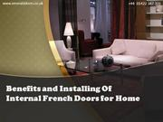 Benefits and Installing Of Internal French Doors for Home