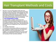 Hair Transplant Methods and Costs