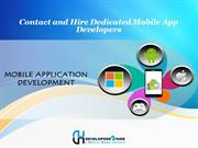 Contact and Hire Dedicated Mobile App Developers