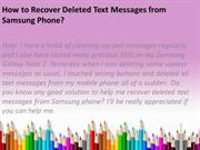 How to Recover Deleted Text Messages from Samsung Phone