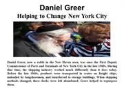 Daniel Greer - Helping To Change New York City
