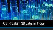 CSIR Labs : 38 Labs in India