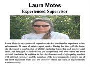 Laura Motes - Experienced Supervisor