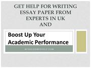 Get Help For Writing Essay Paper From Experts In UK And Boost Up Your