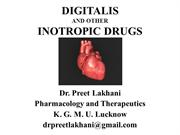 Digitalis &  other inotropic drugs