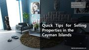 Quick Tips for Selling Properties in the Cayman Islands