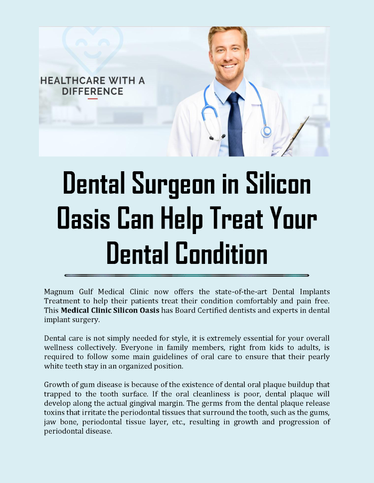 dental surgeon in silicon oasis authorstream. Black Bedroom Furniture Sets. Home Design Ideas