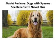 NuVet Reviews  Dogs with Spasms See Relief with NuVet Plus