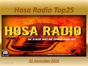 Hosa Radio Top25  21-11-2016