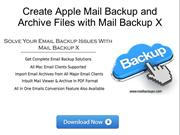 Apple Mail Backup Archive with Mail Backup X