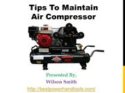 Tips To maintain Air Compressor