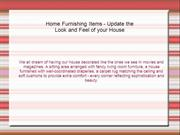 Guide On Home Furnishing Products