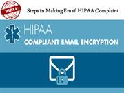 Steps in Making Email HIPAA Complaint