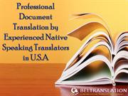 Professional Document Translation by Experienced Native Speaking Trans