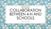 Collaboration of 4-H and Schools