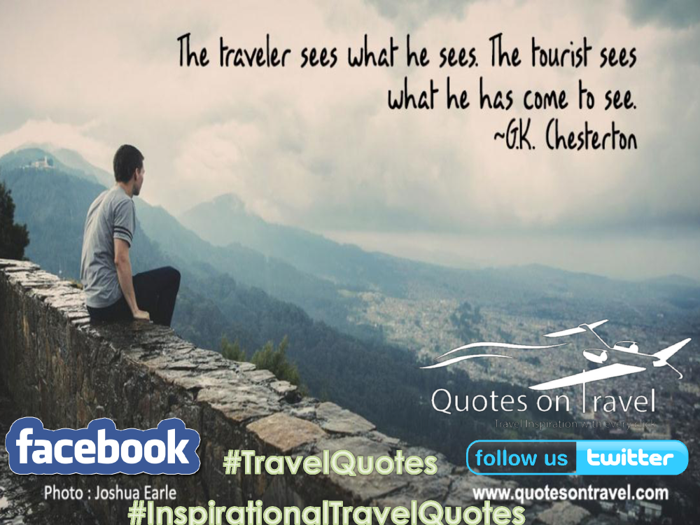 Best Travel Inspiration Quotes By Gk Chesterton Quotes On Trav