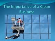 The Importance of a Clean Business