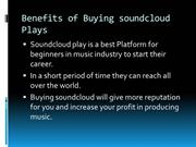 Benefits of Buying soundcloud Plays