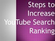 Steps to increase youtube search rank