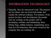 INFORMATION TECHNOLOGY COMPANIES