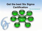 Get the best Six Sigma Certification