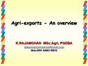 agri exports-overview