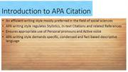 Introduction to APA Citation Style