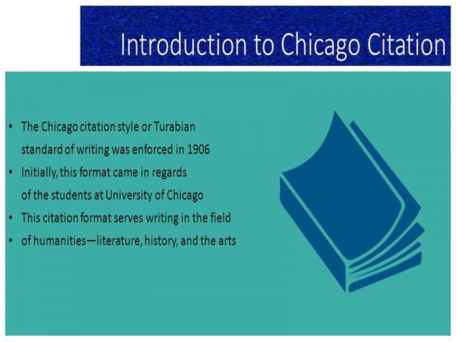 chicago style introduction