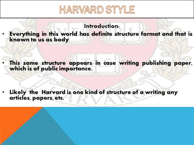 Introduction To Harvard Citation Style Authorstream