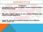 Introduction to Harvard Citation Style