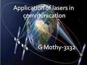 laser application (laser communication)
