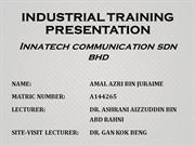 INDUSTRIAL TRAINING PRESENTATION last punya last