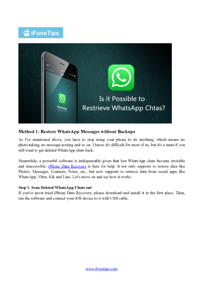 Three Practical Ways to Retrieve Deleted Whatsapp Chat