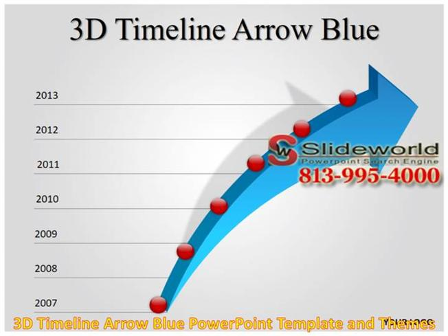 3d timeline arrow blue powerpoint template and themes authorstream toneelgroepblik Gallery