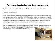 Furnace installation in vancouver