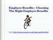 Employee Benefits – Choosing The Right Employee Benefits