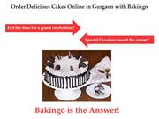 Order Delicious Cakes Online in Gurgaon with Bakingo
